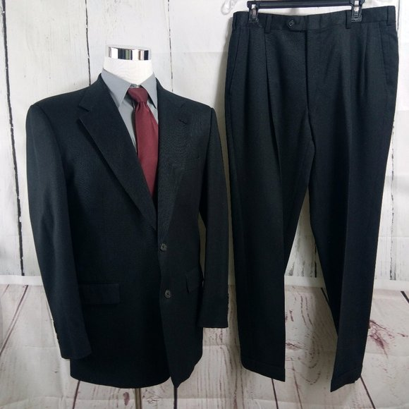 Austin Reed Suits Blazers Austin Reed Dillards 42r Black Herringbone Suit Poshmark